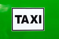 Taxi sign Stock Photography