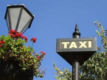 Taxi sign. Stock Photos