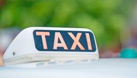 Taxi sign Stock Photos