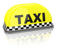 The taxi sign Stock Photos