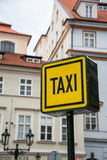 Taxi sign during Stock Photography