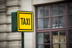 Taxi sign during Royalty Free Stock Image