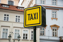 Taxi sign during the daylight Royalty Free Stock Photography