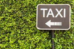 Taxi sign Royalty Free Stock Photo