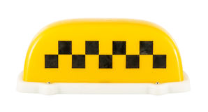Taxi sign. Isolated on a white background Royalty Free Stock Photos