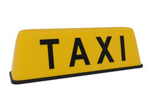 Taxi Sign isolated on white Stock Image