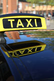 Taxi. Sign in Kiel. Germany Stock Photos