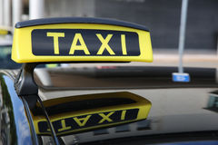 Taxi. Sign in Kiel. Germany Royalty Free Stock Image