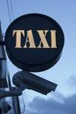 Taxi rank sign Royalty Free Stock Photos