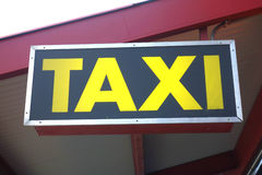 Taxi Sign. A taxi sign in New York City royalty free stock image