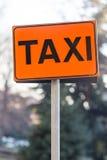 Taxi sign orange. Close up of taxi sign orange Stock Photos
