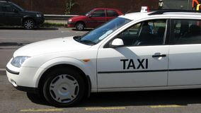 Taxi sign. Royalty Free Stock Photography