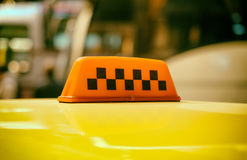 Taxi sign. Royalty Free Stock Photo