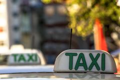 Taxi sign. In Sao Paulo city, Brazil Stock Images