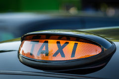 Taxi sign in Scotland Stock Photo