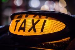 Taxi sign in Scotland Stock Photos