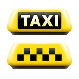 Taxi sign set Royalty Free Stock Photos