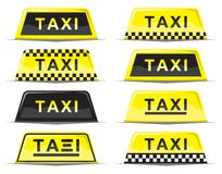 Taxi sign set Royalty Free Stock Image
