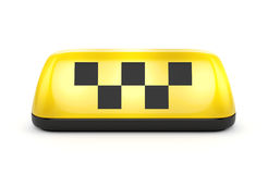 Taxi sign with squares Royalty Free Stock Photo