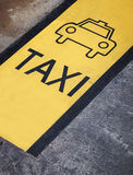 Taxi Sign and Symbol Royalty Free Stock Photos