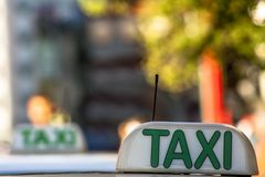 Taxi sign. In Sao Paulo city, Brazil Stock Photo