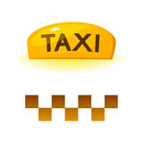 Taxi sign, vector illustration Royalty Free Stock Photography