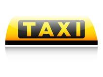 Taxi sign on white Stock Photos