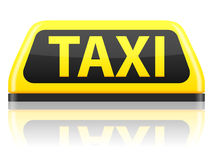 Taxi sign. On a white background Stock Image