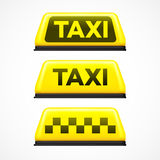 Taxi sign on white background. Vector illustration Royalty Free Stock Photography