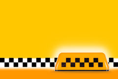Taxi sign. Yellow taxi sign on the background. Texture, background, concept Stock Image