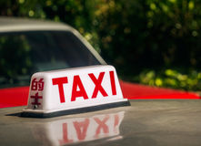 Taxi signage Royalty Free Stock Photo