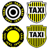 Taxi signs and emblems Royalty Free Stock Image