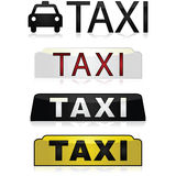 Taxi signs Royalty Free Stock Photography
