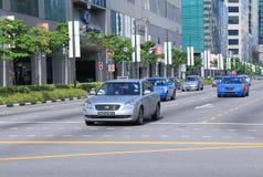 Taxi Singapore Arkivfoto