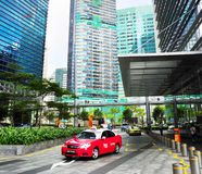 Taxi in Singapur Lizenzfreie Stockbilder