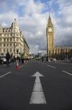 Taxi som protesterar mot Uber Royaltyfri Fotografi