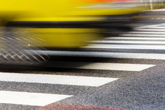 Taxi Speeding in motion Stock Photos