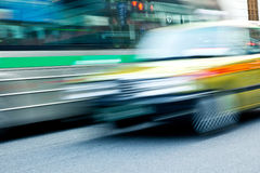 Taxi Speeding in motion Royalty Free Stock Photos