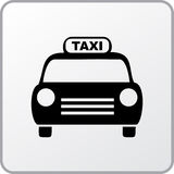 Taxi. Square icon of the taxi Stock Photography