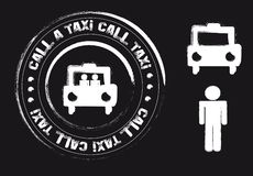 Taxi stamp Royalty Free Stock Images