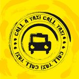 Taxi stamp Stock Images