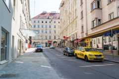 Taxi stand in downtown Vienna, Austria Royalty Free Stock Images