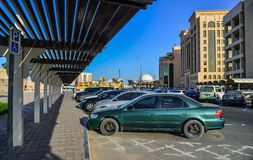 Taxi Stand in Dubai Downtown royalty free stock image