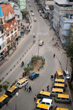 Taxi stand at Gangtok, Sikkim, India. A top angle view of the taxi stand at Gangtok, Sikkim, India Royalty Free Stock Photography
