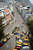 Taxi stand at Gangtok, Sikkim, India Royalty Free Stock Photos