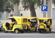 Cuba taxi stand Stock Image