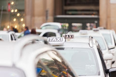 Taxi stand in Milan Stock Images
