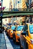 Taxi Stand New York Stock Photos