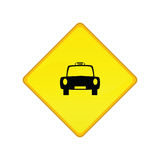 Taxi stand sign Royalty Free Stock Photos