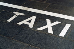 Taxi Stand Sign on the road Royalty Free Stock Images